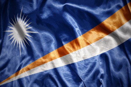 marshall: waving and shining marshall islands flag