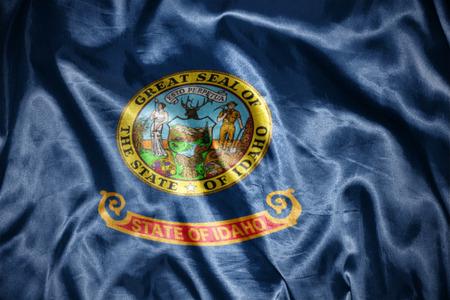 us sizes: waving and shining  idaho state flag