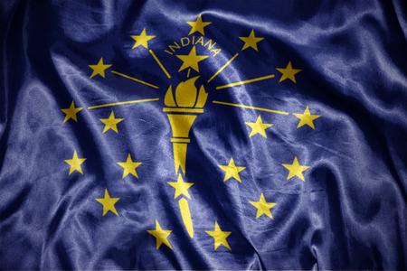 us sizes: waving and shining  indiana state flag Stock Photo