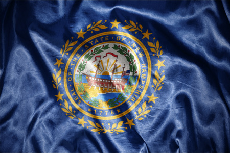 hampshire: waving and shining new hampshire state flag