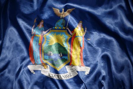 us sizes: waving and shining new york state flag Stock Photo