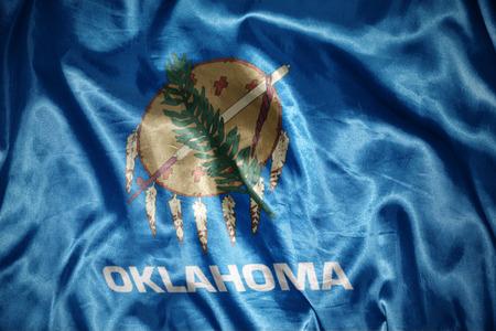 us sizes: waving and shining oklahoma state flag