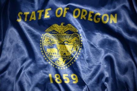 us sizes: waving and shining oregon state flag