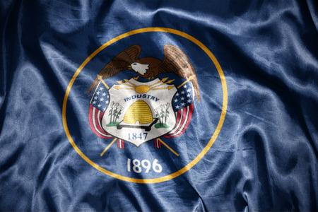us sizes: waving and shining utah state flag