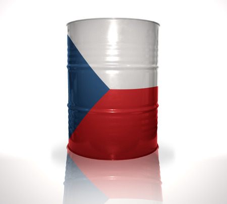 fuel provider: barrel with czech flag on the white background