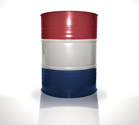 heavy fuel: barrel with dutch flag on the white background