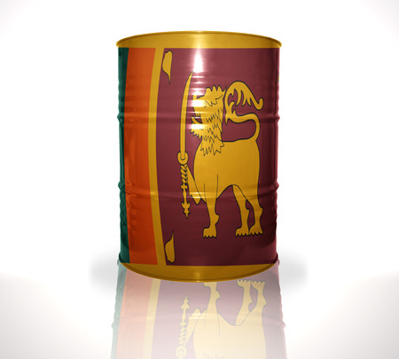 heavy fuel: barrel with sri lanka flag on the white background