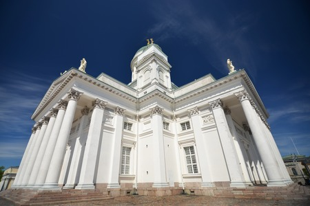 lutheran: Finnish Evangelical Lutheran cathedral on the Senate square of Helsinki