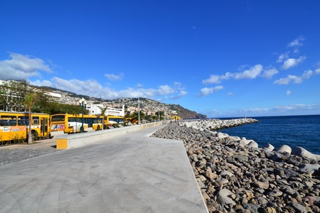 portugese: beautiful colorful view of the city of funchal, portugal