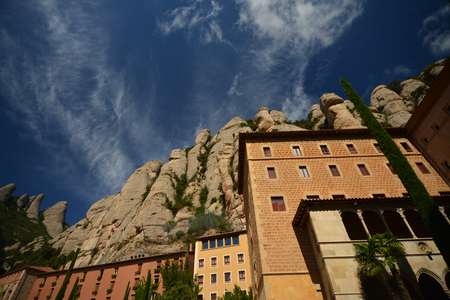 great pyrenees: Monastery of Montserrat in the Catalan Pyrenees, Spain