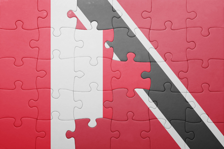 lima region: puzzle with the national flag of trinidad and tobago and peru .concept Stock Photo