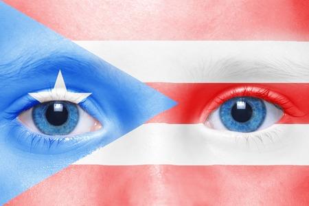 bandera de puerto rico: La cara de humano con la bandera de Puerto Rico