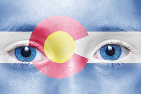 colorado state: humans face with colorado state flag