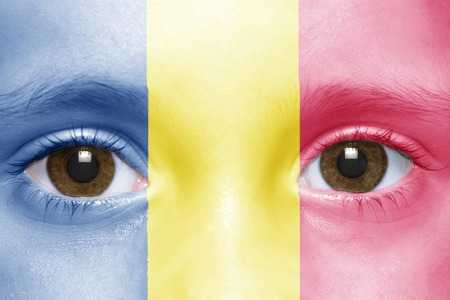 chad flag: humans face with chad flag
