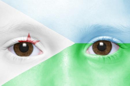 djibouti: humans face with djibouti flag