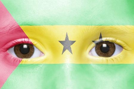 principe: humans face with sao tome and principe flag