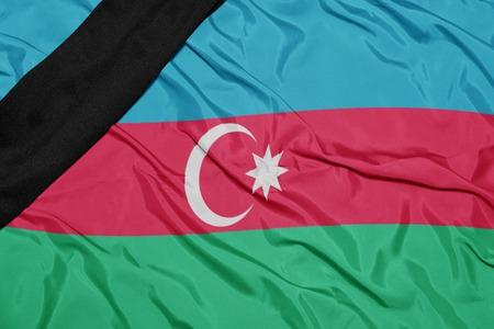 social conflicts: ondeando la bandera nacional de Azerbaiy�n