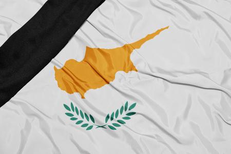 conflictos sociales: ondeando la bandera nacional de chipre