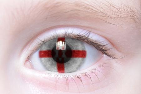 northern ireland: humans eye with national flag of northern ireland Stock Photo