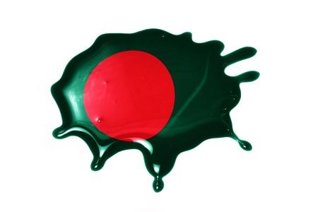 national flag bangladesh: blot with national flag of bangladesh on the white background
