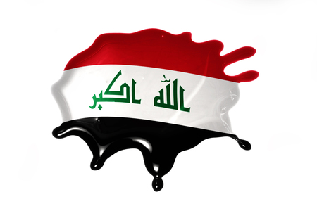 blot: blot with national flag of iraq on the white background
