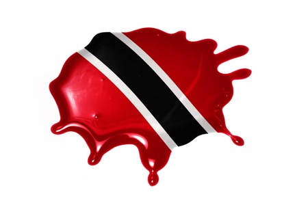 national flag trinidad and tobago: blot with national flag of trinidad and tobago on the white background