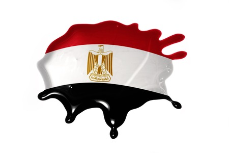 old flag: blot with national flag of egypt on the white background Stock Photo