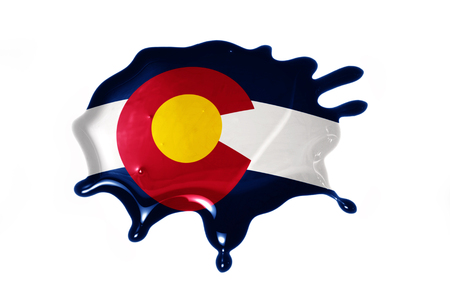 colorado flag: blot with colorado state flag on the white background.3D illustration