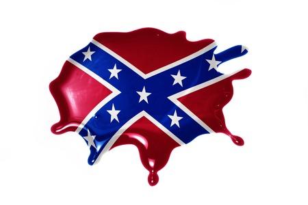 bandera blanca: seque con bandera confederada en la ilustración en blanco background.3d