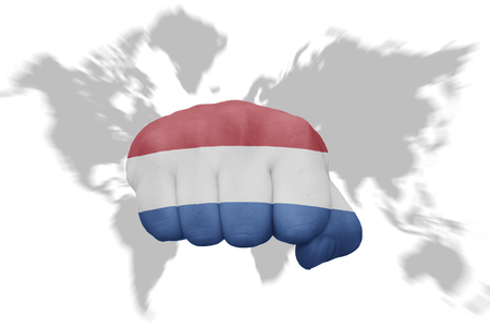 Netherlands on world map highlighted netherlands on map of europe netherlands on world map fist with the national flag of greece on a world map background gumiabroncs Choice Image