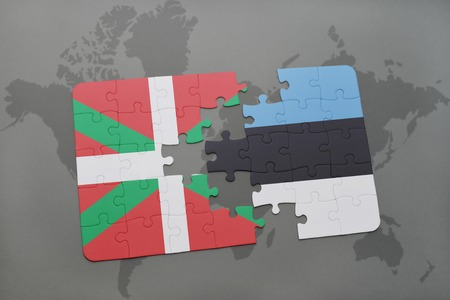 Puzzle with the national flag of moldova and estonia on a world puzzle with the national flag of basque country and estonia on a world map background gumiabroncs Choice Image
