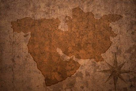 middle east map: middle east map on a old vintage crack paper background Stock Photo