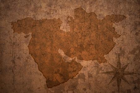 middle east map on a old vintage crack paper background