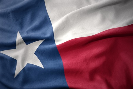 texas state: waving colorful national flag of texas state.