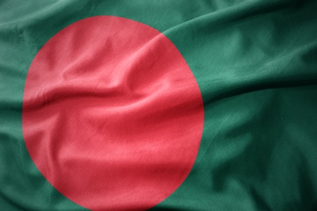 waving colorful national flag of bangladesh.