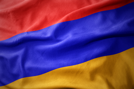 waving colorful national flag of armenia.
