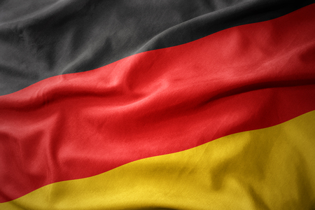 micro print: waving colorful national flag of germany.