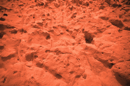 View of the red terrestrial planet. space concept