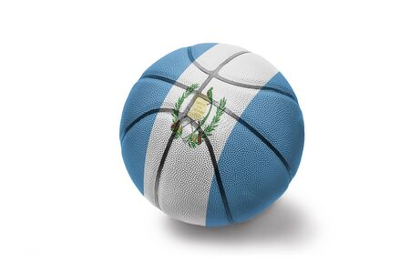 basketball ball with the colored national flag of guatemala on the white background