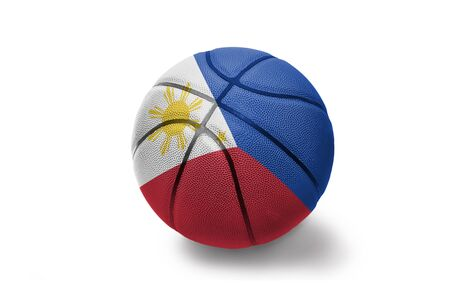 basketball ball with the colored national flag of philippines on the white background