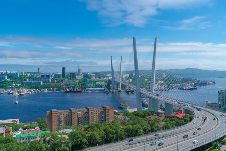 Vladivostok Hali Bridge 版權商用圖片 - 82747175