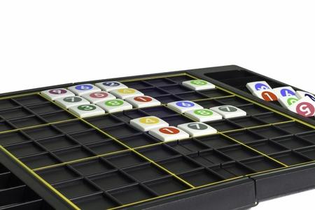 sudoku: Sudoku incomplete board game Stock Photo