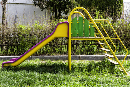 Kids playground in a park photo