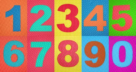 Rubber numbers . Tread plate texture photo