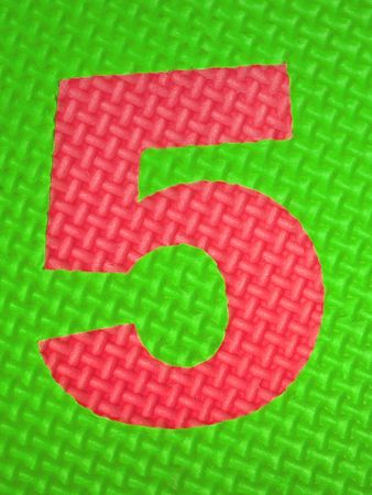 tread plate: Rubber number 5 . Tread plate texture Stock Photo