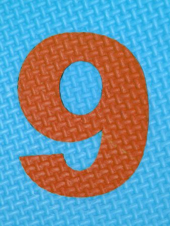 tread plate: Rubber number 9 . Tread plate texture Stock Photo