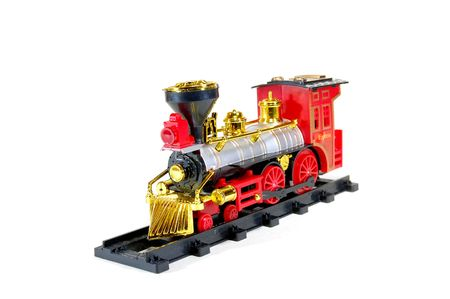Toy Steam Train on white background Stock Photo - 6740395