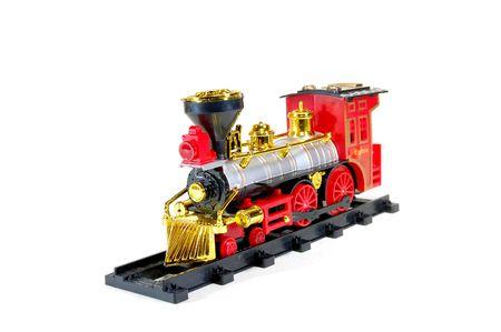Toy Steam Train on white background Stock Photo - 6740395