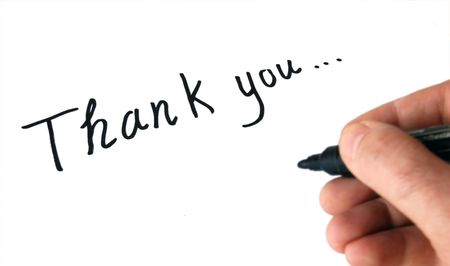 thank you note: Thank you note
