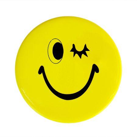 Gelbe glückliches Gesicht-Schaltfläche
